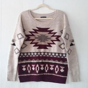 AMERICAN EAGLE Aztec tribal Pull-over knit Sweater